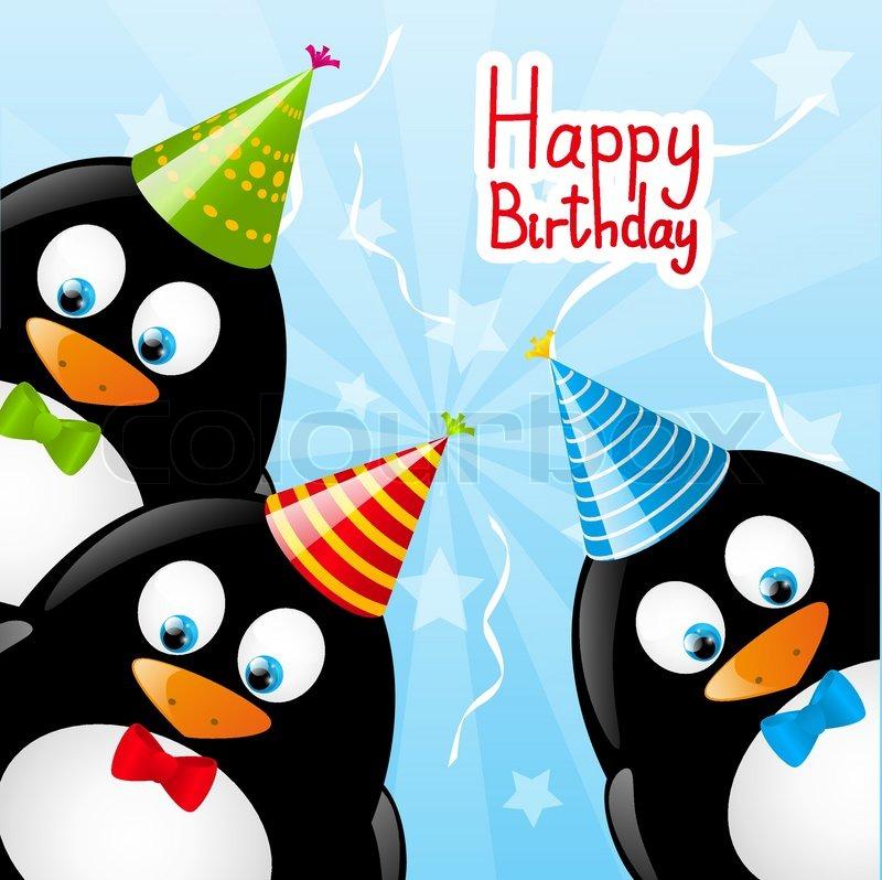 Поздравление с днем рождения с пингвинами 26