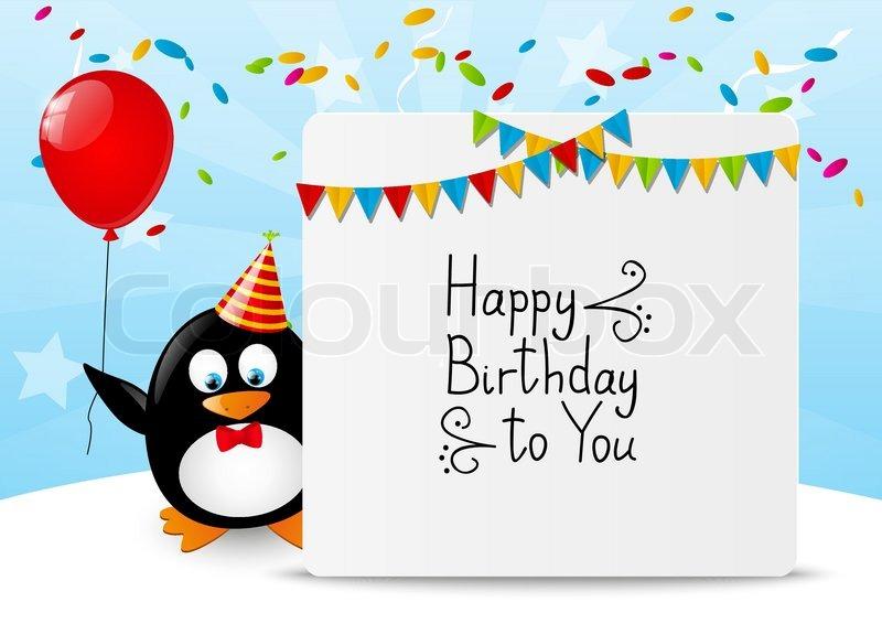 Поздравление с днем рождения с пингвинами 30