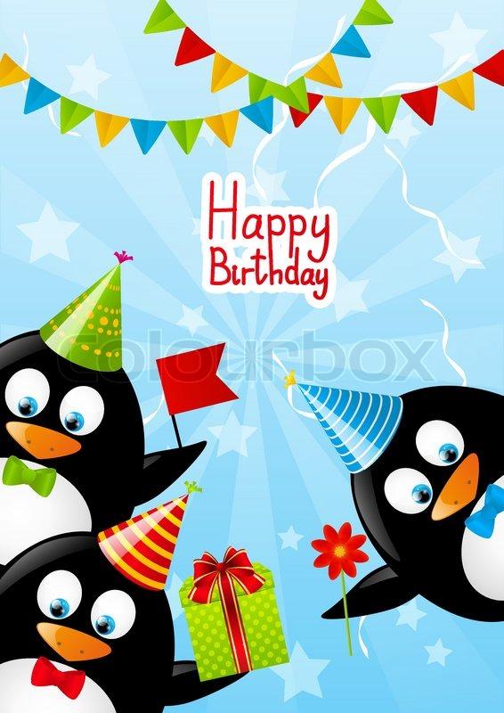 Поздравление с днем рождения с пингвинами 54
