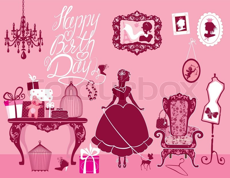 Поздравления девушке гламурной девушке с днем рождения