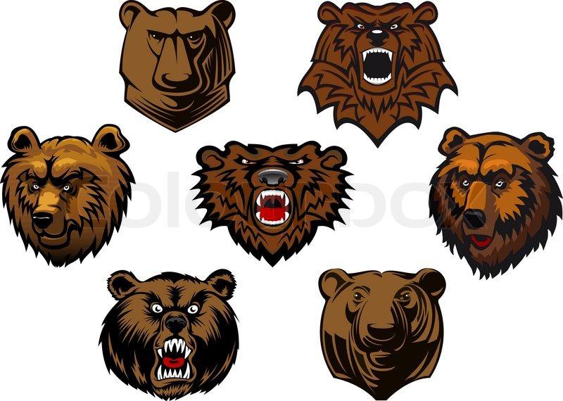 Bear head vector illustration  Illustrations  Creative
