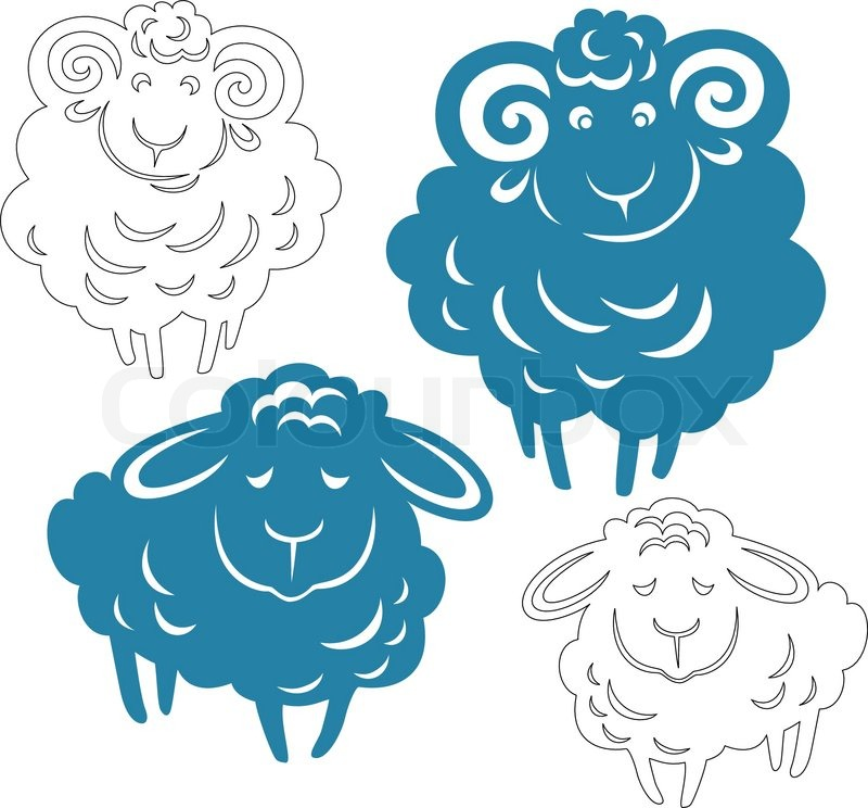 Sheep silhouette vector