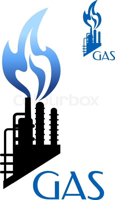 Gas And Oil Industry Symbols Stock Vector  Illustration
