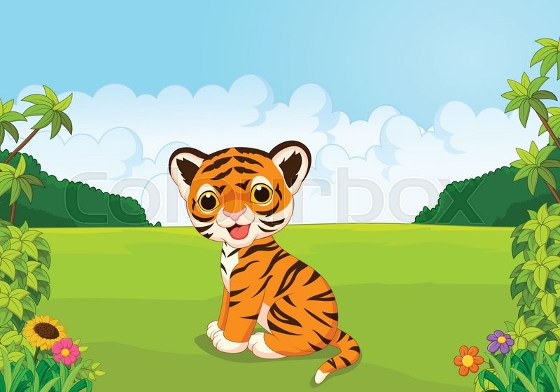 Baby tiger cartoon images