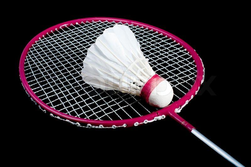 Badminton birdie and racket clipart