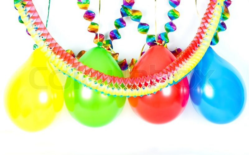 Bunte Luftballons und Girlanden. | Stockfoto | Colourbox