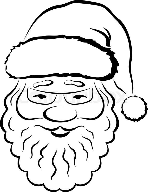 Santa face drawing
