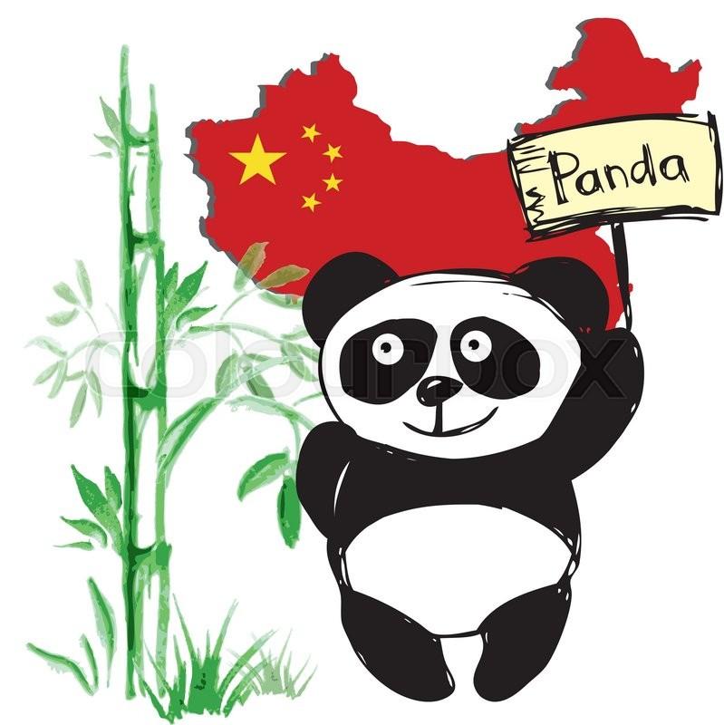 Chinese panda drawing