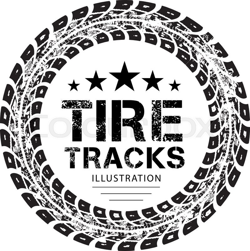 Tire Tracks stock vector Illustration of tractor trail