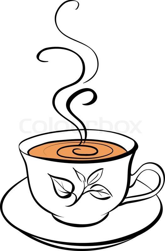 Рисованная кружка чая