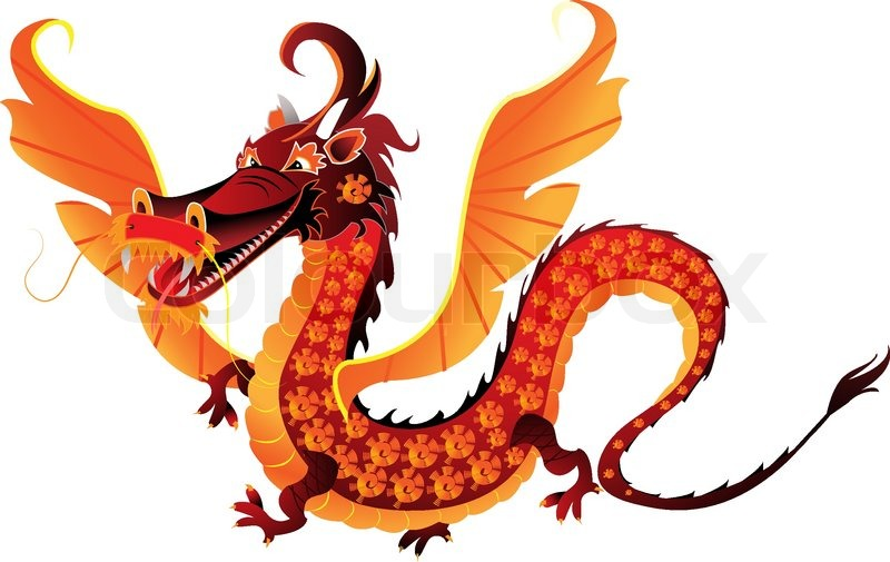 Marvellous dragon vector photos