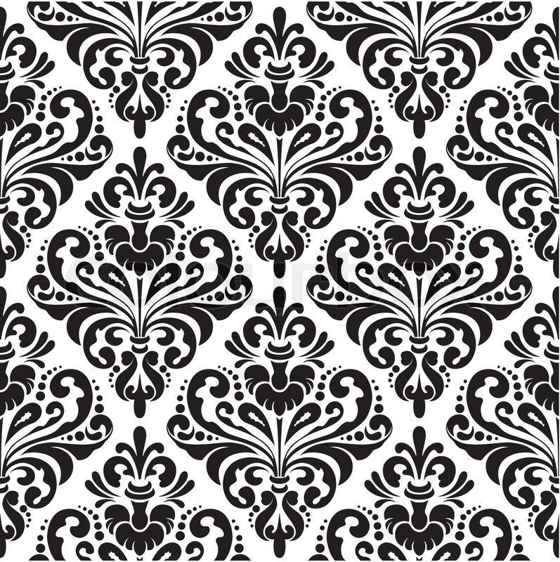 Retro pattern black and white