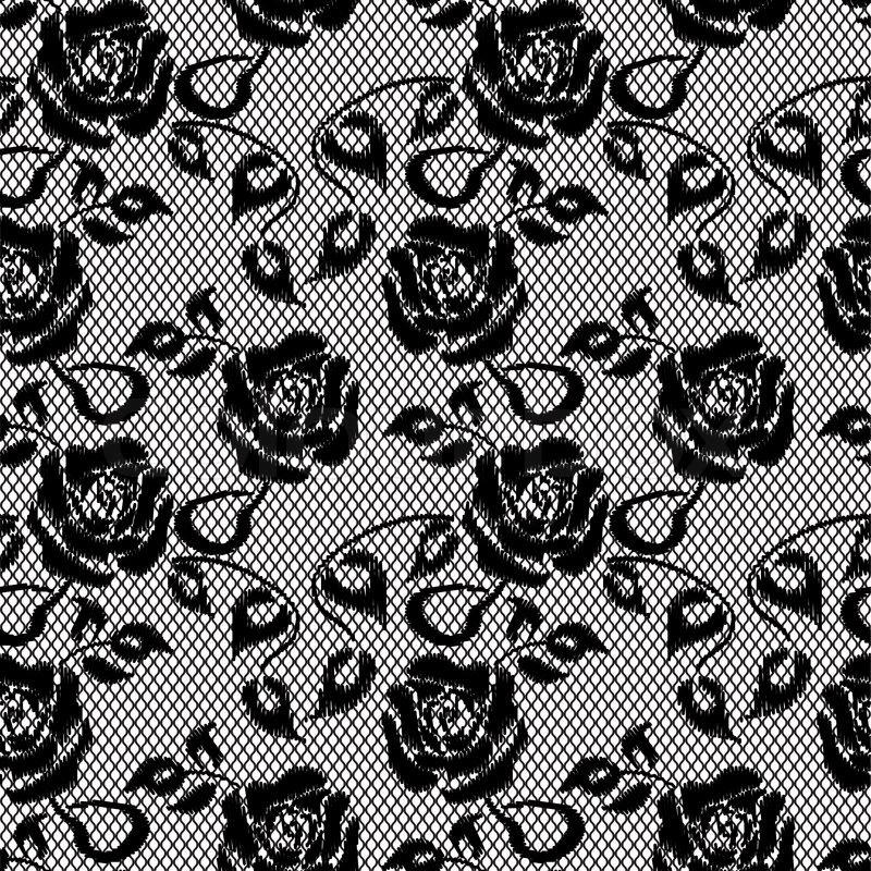 Black lace tumblr background
