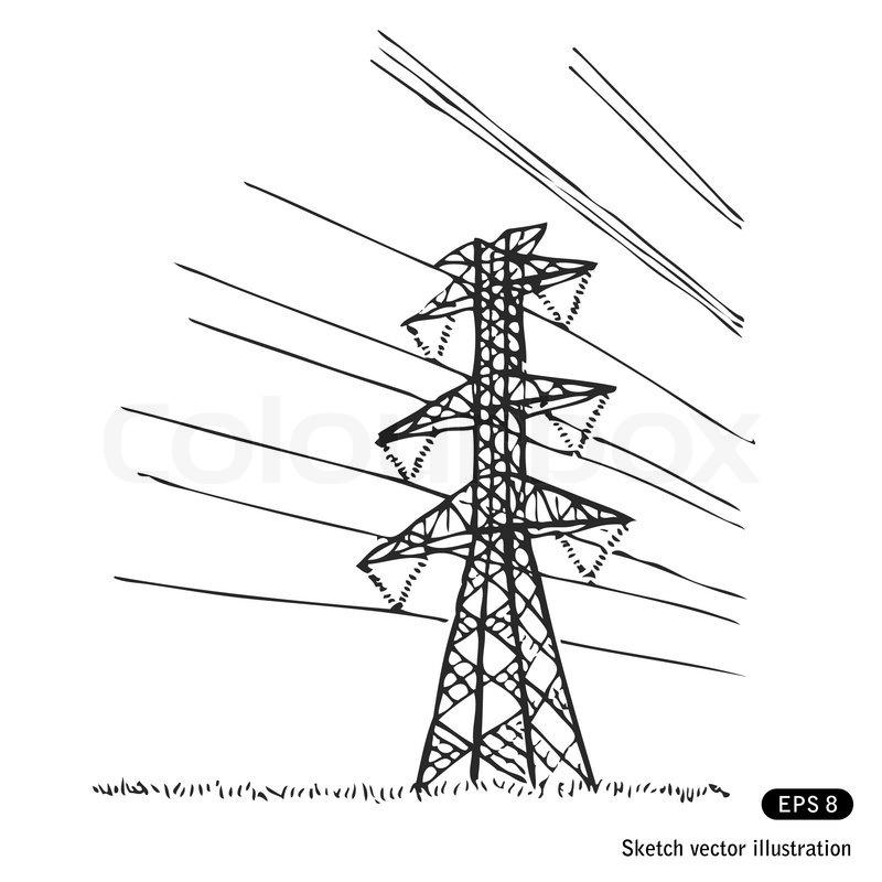 Рисунок столбов электрических