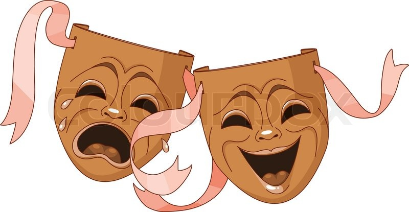 Comedy mask vector