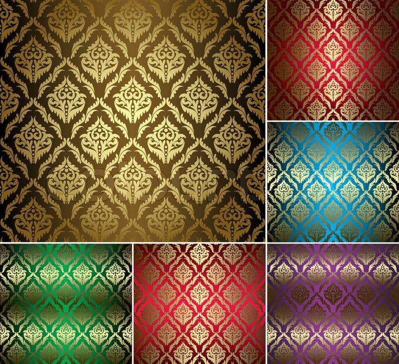 Gold vintage pattern