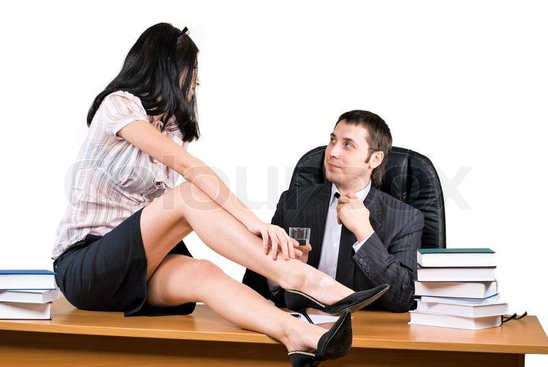 Мужик даёт на клык секретарше в офисе  632795