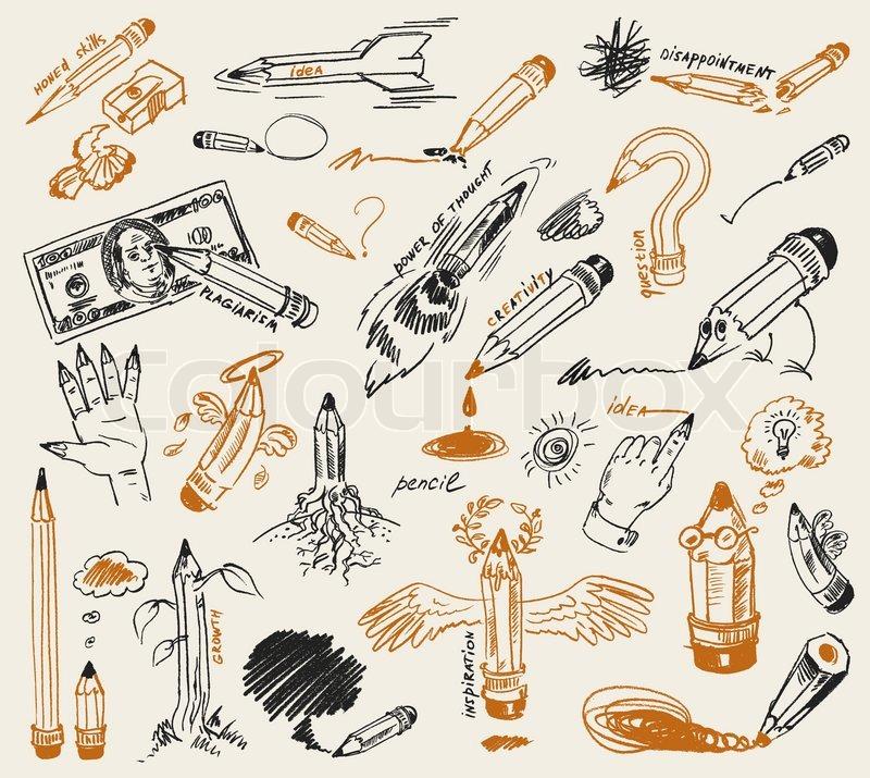 Вектор нарисованный карандашом