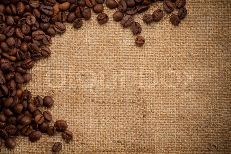 кофейные зерна мешковина ткань  № 3696095 бесплатно