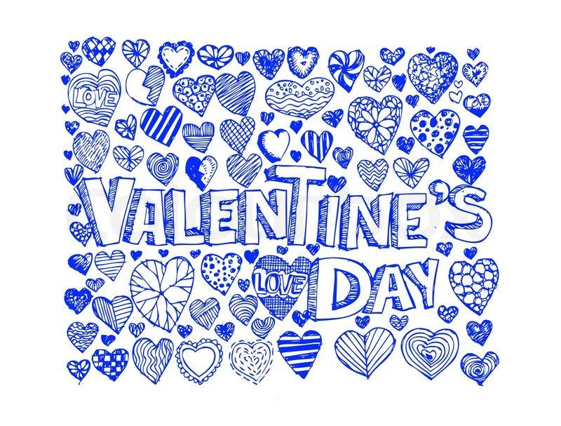 Herz zeichnen und Valentinstag   Vektorgrafik   Colourbox