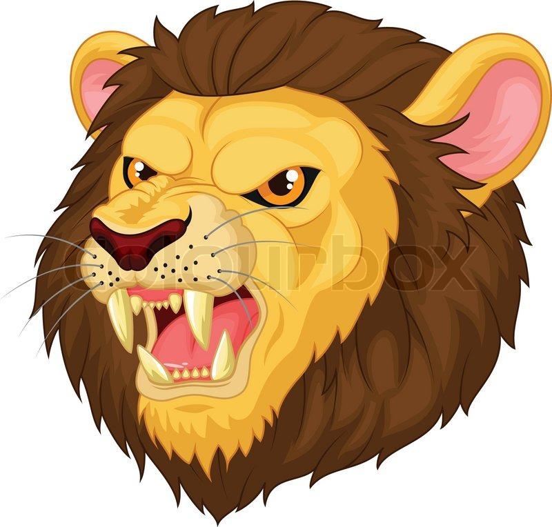 Lion cartoon head