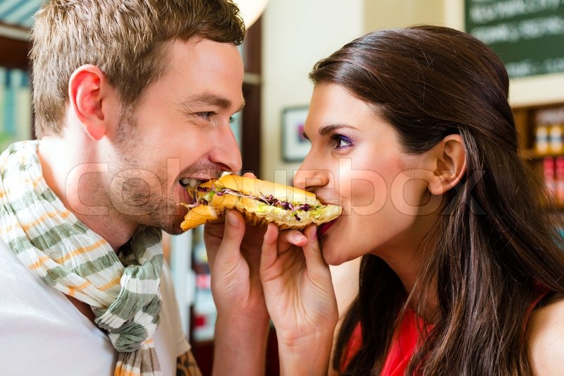 sensational woman is eating hotdog and getting banged  348542