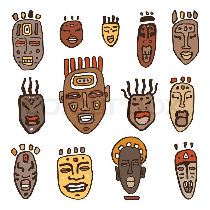 Маски этнические своими руками 73