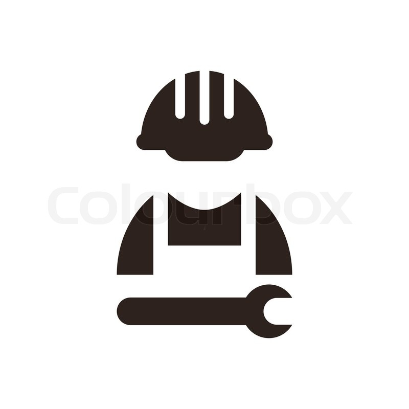 Construction Worker Icon Vector Construction Worker Icon Isolated on White Background Vector