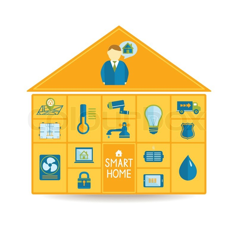 Smart Home Technologies: Smart Home Automation Technology Concept With Utilities