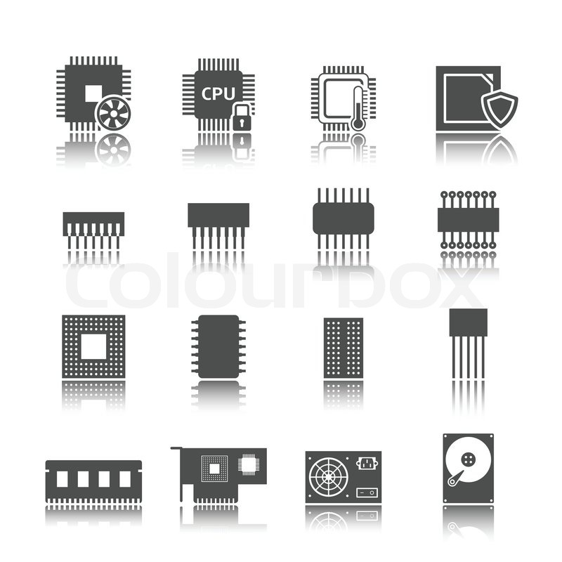 Groß Schaltungskomponenten Symbole Zeitgenössisch - Elektrische ...