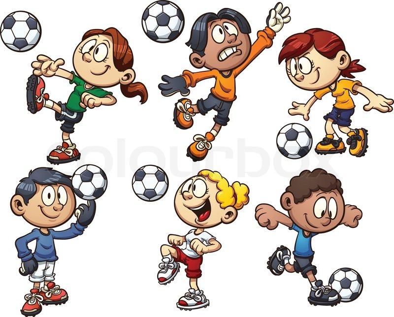 Fussball Kinder Stock Vektor Colourbox