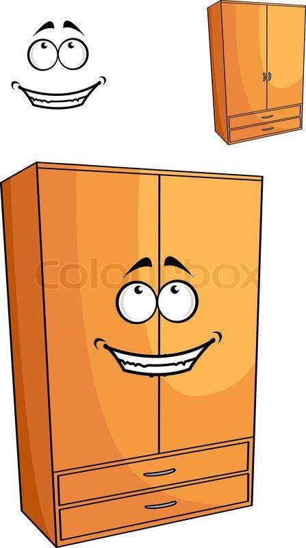 Kleiderschrank comic  Cartoon hölzerne Schlafzimmer Schrank oder Schrank | Vektorgrafik ...
