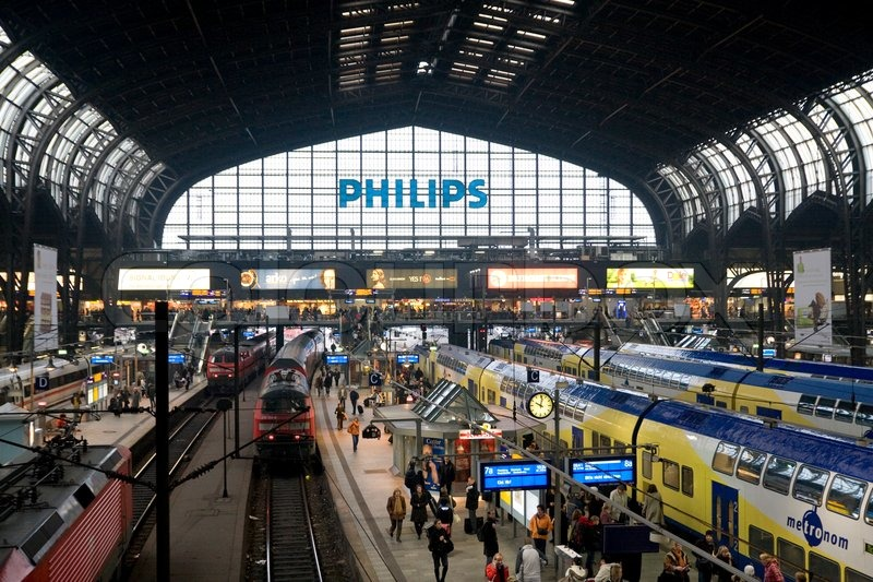 Editorial image of 'Busy train station in Germany'