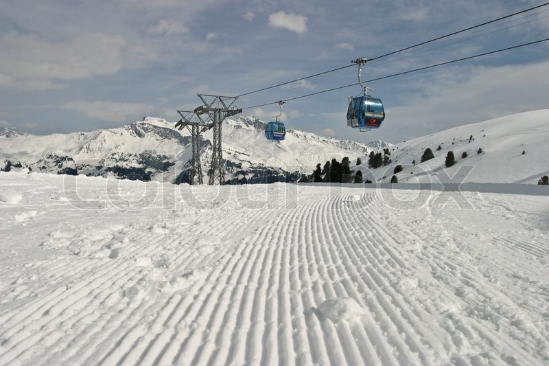 Stock image of 'austria, ski lift, snow'