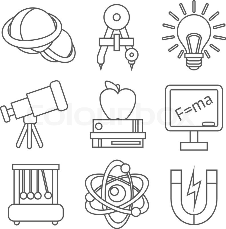 Science Sheet Of Lab Equipment Coloring Pages