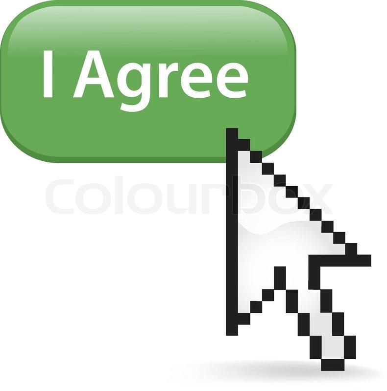 Ich Bin Damit Einverstanden Auf Einen Vektorgrafik Colourbox