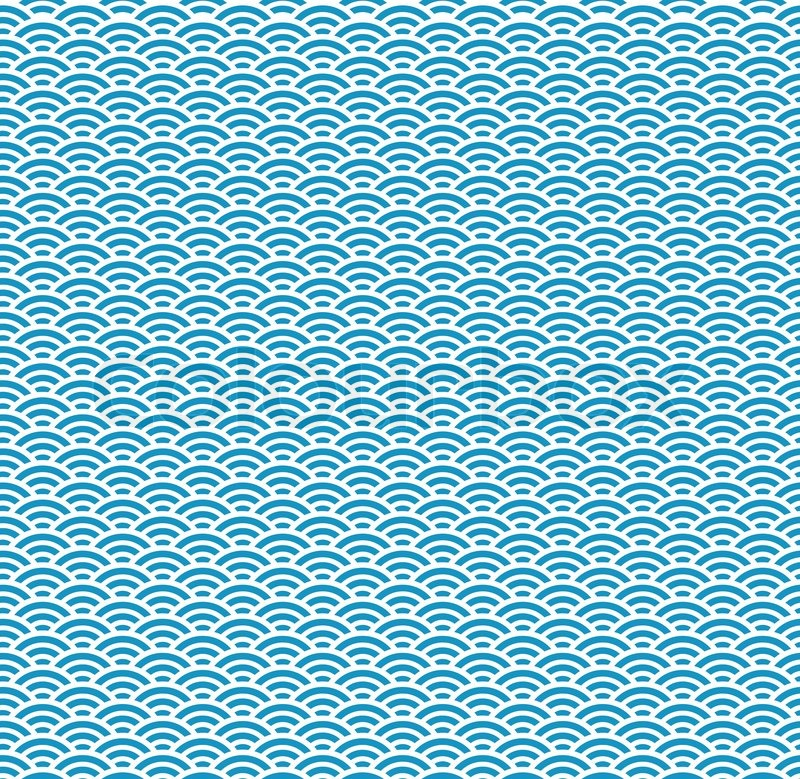 traditional japanese wave seamless pattern stock vector