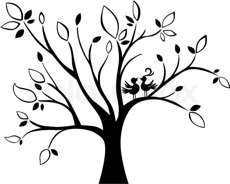 illustration of a wedding tree  stock vector  colourbox