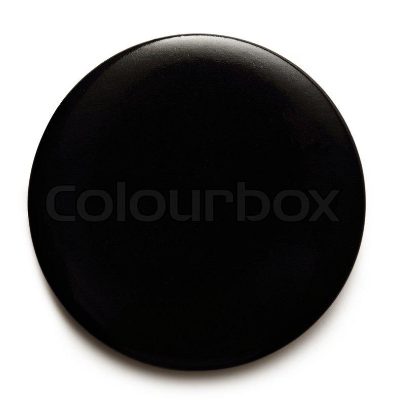 blank black round badge on white background stock photo colourbox