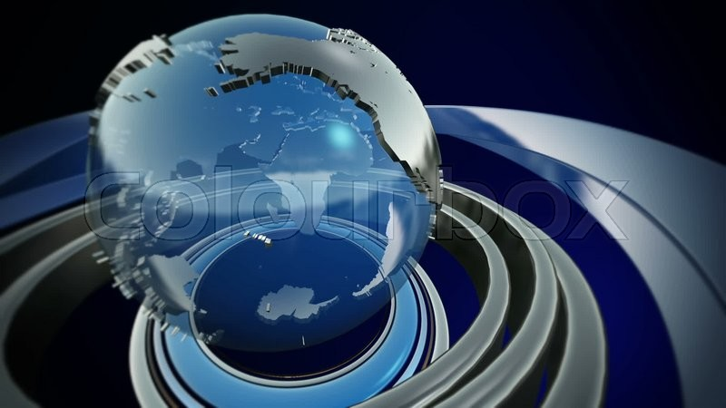 3D Computer Generated Globe Animation For A News Background Video