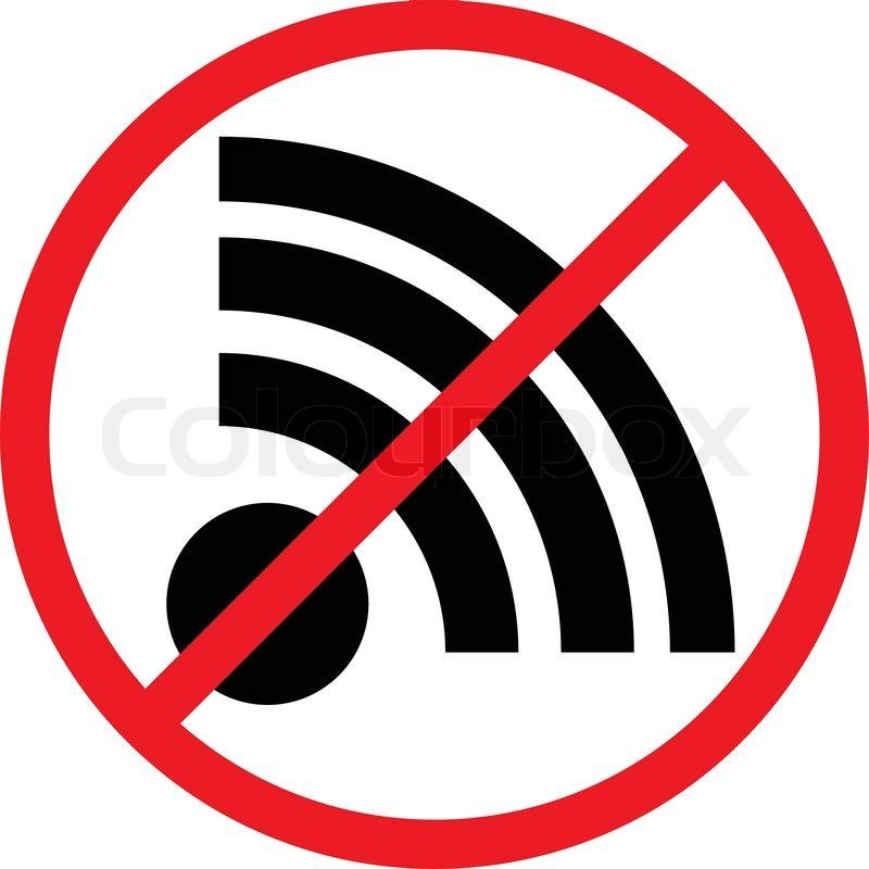 Kein Signal, keine Verbindung vector Zeichen. | Vektorgrafik | Colourbox