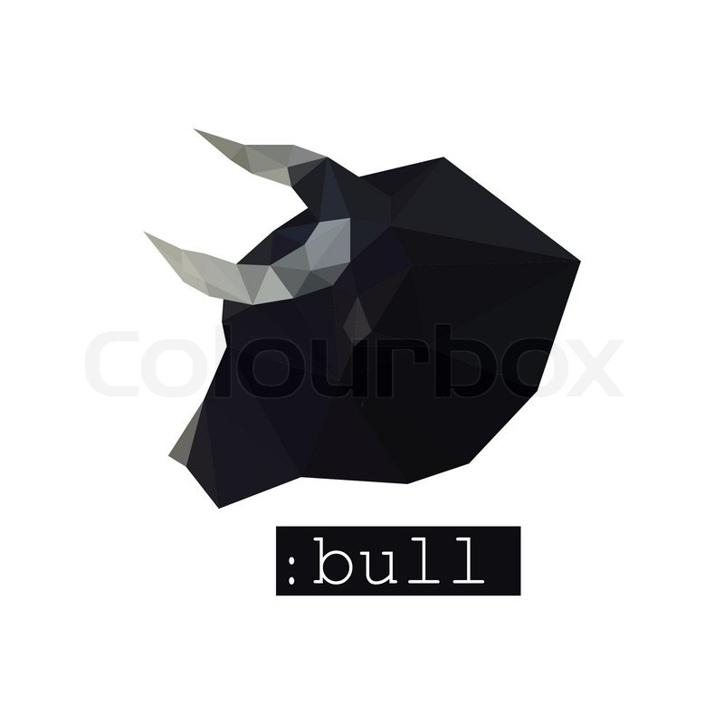 Illustration Of Folded Paper Model Red And White Origami Bull ... | 800x800