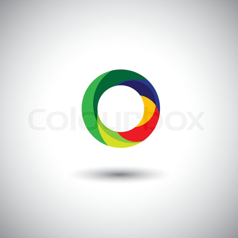 colorful circle vector graphic - photo #27