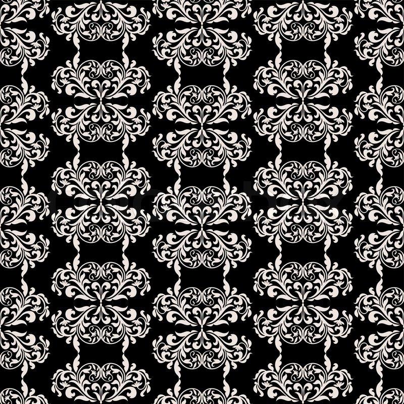 damaris sch nen hintergrund mit reichen alten stil luxus ornamente schwarz und wei. Black Bedroom Furniture Sets. Home Design Ideas