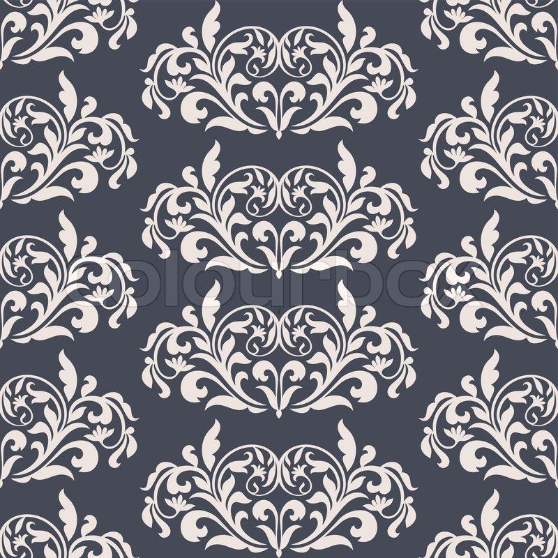 Damast sch nen hintergrund mit reichen alten stil luxus verzierung blau altmodische nahtlose - Tapete orientalisch blau ...
