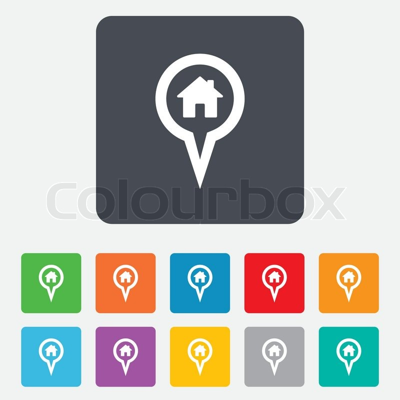 House Location Map Map Pointer House Sign Icon