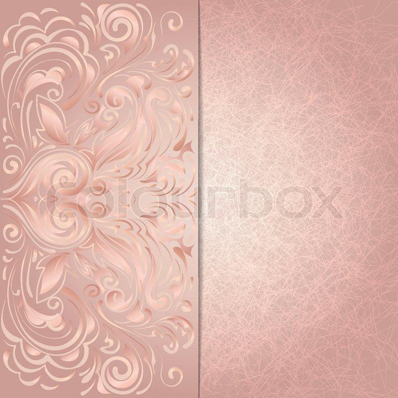 hintergrund f r die einladung mit rosa blumenmuster vektorgrafik colourbox. Black Bedroom Furniture Sets. Home Design Ideas