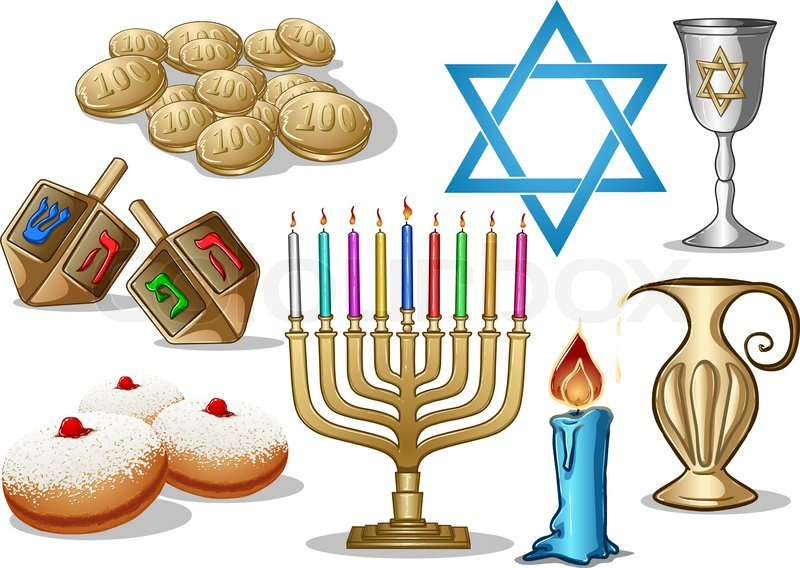 A Pack Of Vector Illustrations Of Famous Symbols For The Jewish