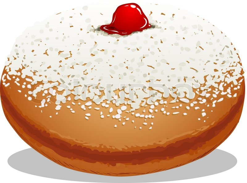 A Vector Illustration Of Sufganiyah Which Is A Donut For The Jewish