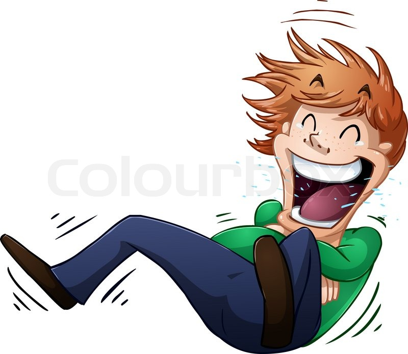 Typ rollen am boden vor lachen vektorgrafik colourbox for Boden cartoon